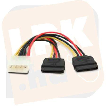 Kábel - VCOM SATA-Y tápkábel 0.2m